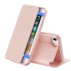 Dux Ducis Skin X knížkové kožené pouzdro na iPhone 7/8/SE 2020, růžové