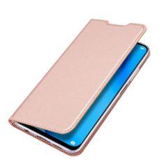 Dux Ducis Skin Pro knížkové kožené pouzdro na Huawei P40 Lite, růžové
