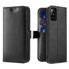 Dux Ducis Kado knížkové kožené pouzdro na Samsung Galaxy A71, černé