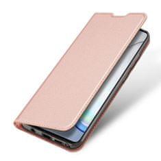 Dux Ducis Skin Pro knížkové kožené pouzdro na Samsung Galaxy Note 10 Lite, růžové