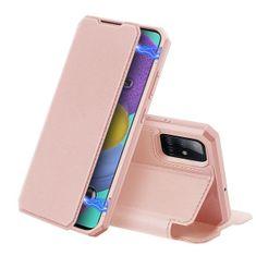 Dux Ducis Skin X knížkové kožené pouzdro na Samsung Galaxy A51, růžové