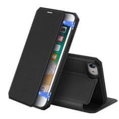 Dux Ducis Skin X knížkové kožené pouzdro na iPhone 7/8/SE 2020, černé