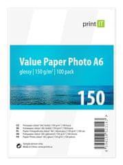 Print IT Fotopapír A6 150 g/m2, 100 listů, lesklý (PI-96)