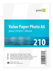 Print IT Fotopapír A6 210 g/m2, 100 listů, lesklý (PI-99)