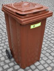 DOPNER Popelnice na bio odpad 240 l - Hnědá