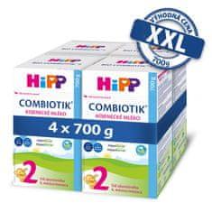 HiPP 2 BIO Combiotik Pokračovací mléčná kojenecká výživa 4x700 g