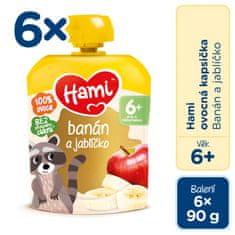 Hami kapsička banán a jablíčko 6x90g