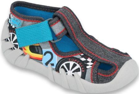 Befado papuče za dječake Speedy 190P096, 22, crne/sive