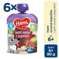 Hami kapsička lesné ovocie s jogurtom 6x90g