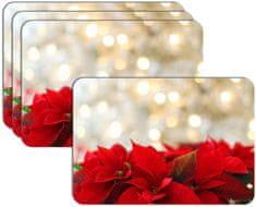RoomDecor.eu Vianočné prestieranie-100, 4 Ks