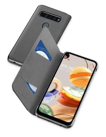 CellularLine ovitek BOOK2LGK61K za LG K61, preklopni, črn
