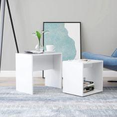 shumee Set konferenčních stolků bílý 48 x 30 x 45 cm dřevotříska