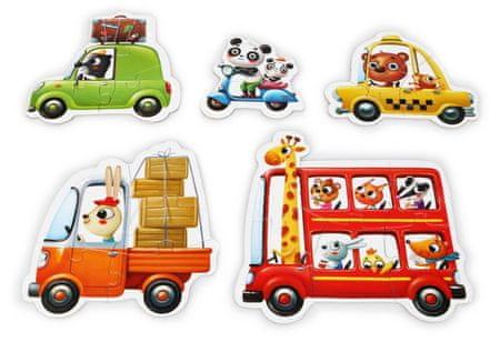 Puzzlika 13784 Autó - puzzle , 5 kép, 20 rész