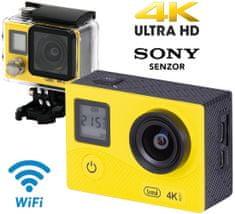 Trevi GO 2500-4K aktivni sportski fotoaparat, 4K-UHD,WiFi, Sony senzor, žuta
