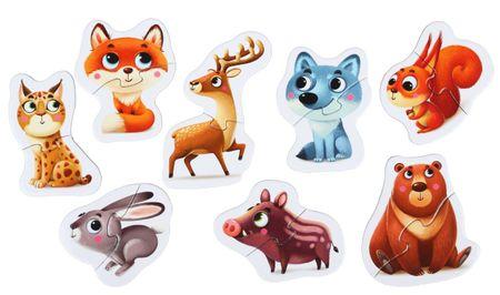 Puzzlika puzzle edukacyjne Leśne Zwierzęta 14798 8 zwierzaków - 16 szt.