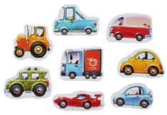 Puzzlika slagalica s prijevoznim sredstvom 15245 sastoji se od 8 vozila, 16 komada