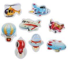 Puzzlika 15283 Letecká doprava puzzle 8 dopravných prostriedkov - 16 dielikov