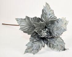 DUE ESSE Ezüst mikulásvirág, 60 cm