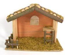 DUE ESSE Fából készült karácsonyi betlehem, 30 cm