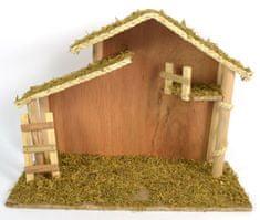 DUE ESSE Fából készült karácsonyi betlehem, 36 cm