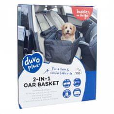 Duvo+ 2 az 1-ben kutya autósülés és hordozó 45x39x30cm - fekete