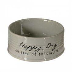 Duvo+ Keramická miska pro psy HAPPY DOG - šedá 18,5cm 1000ml