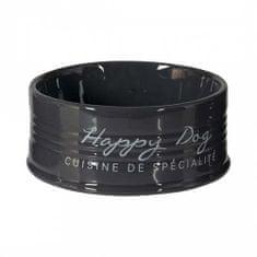 Duvo+ Keramická miska pro psy HAPPY DOG - antracit 14,5cm 520ml