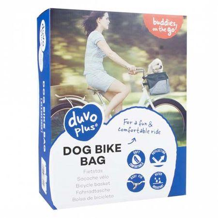 Duvo+ Kutyakosár kerékpárra 34x26x26cm - fekete