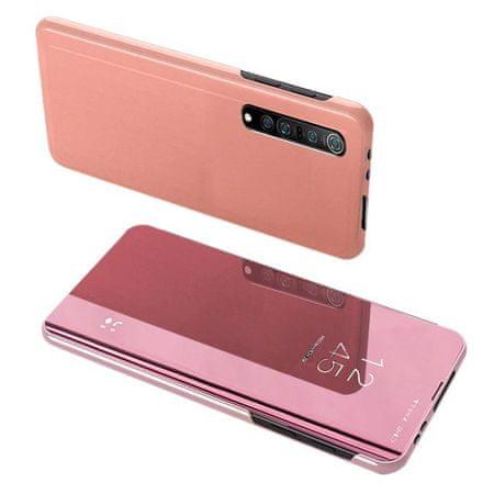 MG Clear View könyvtok Xiaomi Mi Note 10 Lite, rózsaszín