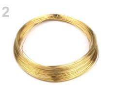 Kraftika 1ks zlatá drát ø0,18mm, drátky, bižuterní dráty a, korálky