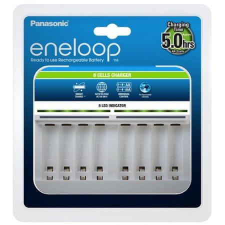 Panasonic Eneloop Charger polnilnik, za 8 baterij