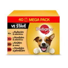 Pedigree alutasakos táp felnőtt kutyáknak aszpikos marhahússal, 40x 100 g