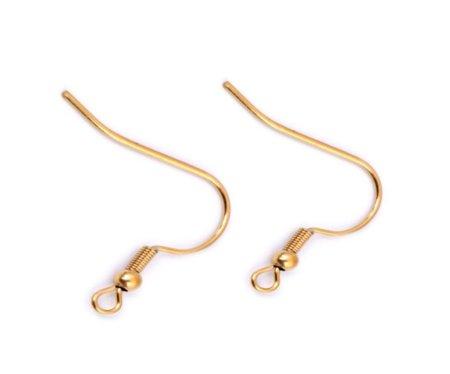 Kraftika 4db arany rozsdamentes acél fülbevaló horog