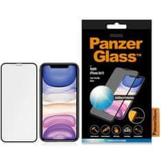 PanzerGlass Anti-Glare steklo za iPhone Xr/11, kaljeno, črno