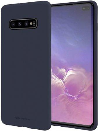 Goospery Soft Feeling ovitek za Samsung Galaxy S10 Plus G975, silikonski, moder