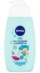 Nivea 2u1 Shower & Shampoo dječji gel za tuširanje i šampon, s mirisom jabuka, 500 ml
