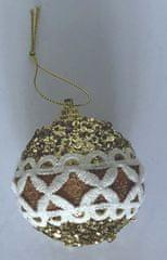DUE ESSE 8 db karácsonyi díszgömb készlet flitterekkel, Ø 6 cm