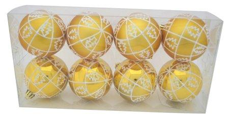 DUE ESSE komplet božičnih okraskov,mat/lesk, Ø 8 cm, 8 kosov