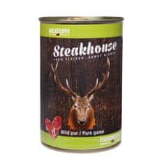 Meat Love Konzervy STEAKHOUSE - 100% zverina 400g