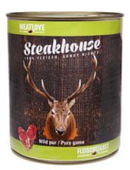 Meat Love Konzervy STEAKHOUSE - 100% zverina 800g