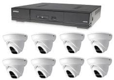 Avtech Kamerový set 1x DVR DGD1009AV a 8x 2Mpx Dome kamera DGC1004XFT + 4x napájací zdroj ZADARMO!