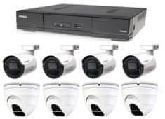Avtech Kamerový set 1x DVR DGD1009AV, 4x 5MPx Dome kamera DGC5205TSE a 4x 5MPx Bullet kamera DGC5105T + 4x napájací zdroj ZADARMO!