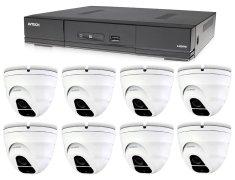 Avtech Kamerový set 1x DVR DGD1009AV a 8x 5MPx Dome kamera DGC5205TSE + 4x napájací zdroj ZADARMO!