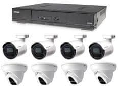 Avtech Kamerový set 1x DVR DGD1009AV, 4x 2Mpx Dome kamera DGC1004XFT a 4x 2Mpx Bullet kamera DGC1105YFT + 4x napájací zdroj ZADARMO!