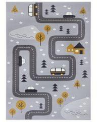 Hanse Home Dětský koberec Adventures 104535 Grey/mustard