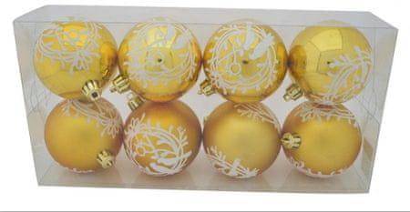 DUE ESSE set božićnih ukrasa od stakla, mat/sjajni, Ø 8 cm, 8 komada