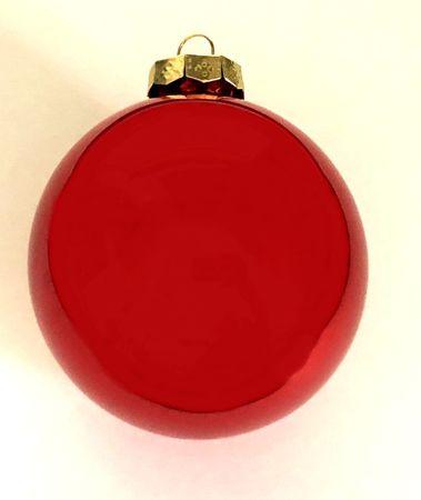 DUE ESSE 20 db-os üvegből készült, piros karácsonyi gömb készlet, Ø 8 cm