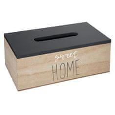 Atmosphera Úložný box HOME na kosmetické ubrousky šedý