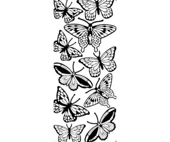 Kraftika 5ks kontury 10x23 - velcí motýli, duha