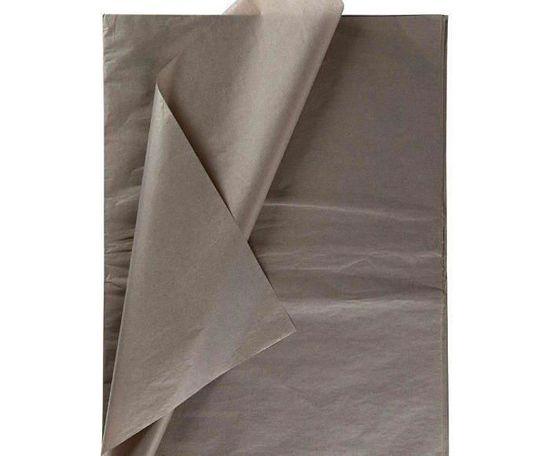 Kraftika Hedvábný papír světle hnědý 50x70cm (25ks)
